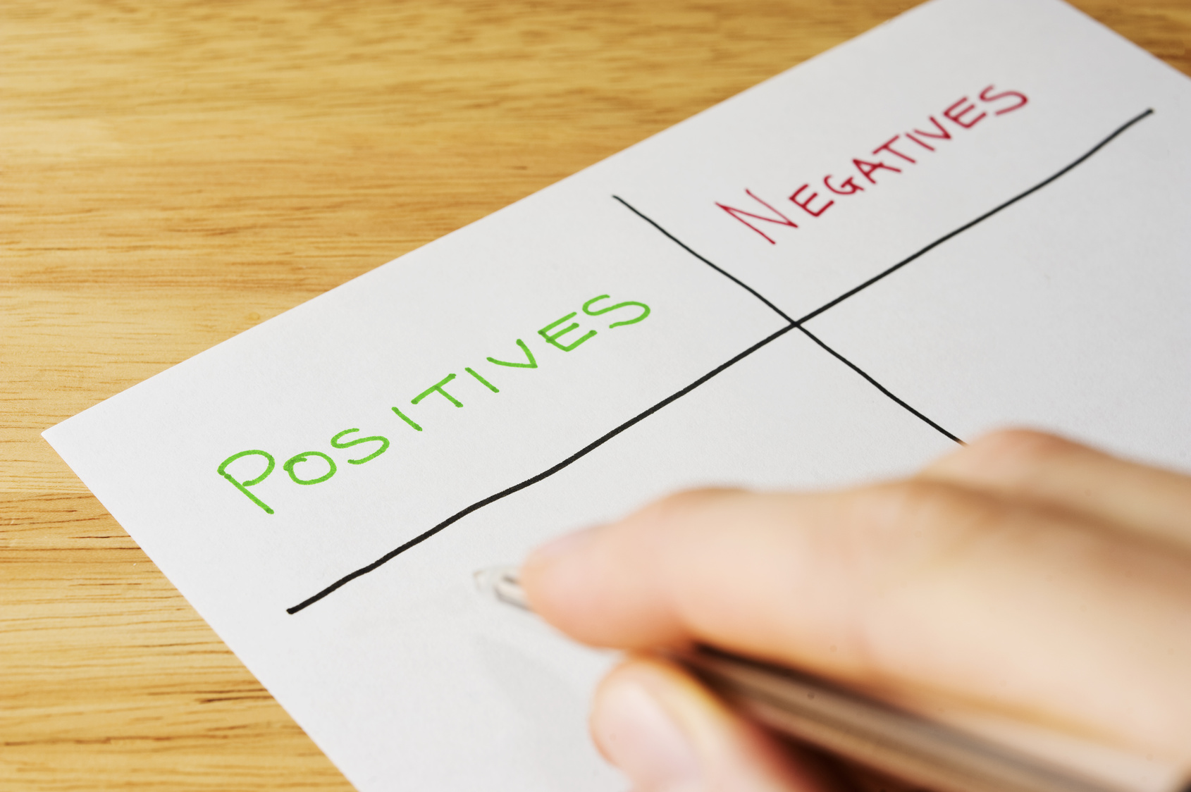positives and negatives Get an answer for 'what are the negative and positive effects of war' and find homework help for other war questions at enotes.